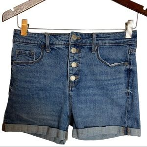 Old Navy High Rise Distressed  Jean Shorts Size 4
